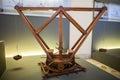 MILAN, ITALY - JUNE 9, 2016: revolving cranes models of Leonardo