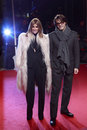 Milan italy march carine roitfeld and mario sorrenti attend the extreme beauty in vogue party at the palazzina della ragione Stock Images