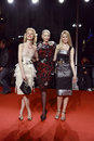 Milan italy march eva herzigova nadja auermann claudia schiffer attend extreme beauty vogue party palazzina della ragione autumn Stock Photos