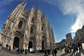 Milan italy piazza duomo cathedral square the gothic Stock Images
