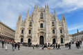 Milan italy piazza duomo cathedral square the gothic Stock Photos