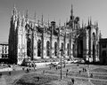 Milan lombardy italy april duomo milan renovation construction for expo Stock Image