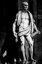 Milan lombardy italy april st bartho bartholomew the apostle by marco dagrate barholomew is carrying his own skin on his shoulders Stock Photo