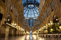 Milan Luxuous shopping mall Royalty Free Stock Photo