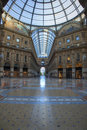 Milan luxury shopping mall Royalty Free Stock Photos
