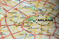Milan on the map Stock Photography