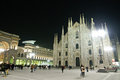 Milan during night Royalty Free Stock Photography