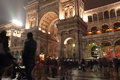 Milan night life italy december in front of the galleria vittorio emanuele during the festive season on december in italy Royalty Free Stock Photos