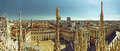 Milan panorama south side view of city in italy taken from rooftop of duomo cathedral view on Stock Photography