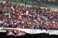 Milan stadium - crowd of fans Royalty Free Stock Images