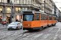 Milan tram Stock Photo