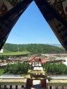 Milarepa temples in hezuo gansu Royalty Free Stock Images