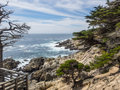 Mile drive is a scenic road through pebble beach and pacific grove on the monterey peninsula in california much of which hugs the Stock Photos