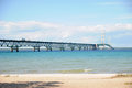 The 5 mile Mackinaw Bridge Royalty Free Stock Photo