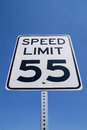55 mile per hour sign. Royalty Free Stock Photo
