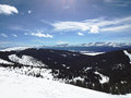 Miles away the top of a colorado mountain allows anyone to see Stock Images