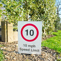 Miles per hour speed limit sign indication Royalty Free Stock Photo
