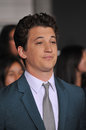 Miles teller los angeles ca march at the los angeles premiere of his movie divergent at the regency bruin theatre westwood Stock Photography