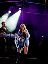 Miley Cyrus Gypsy Heart Show in Brazil Stock Photography