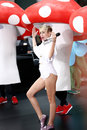 Miley cyrus new york oct recording artist performs on nbc s today show at rockefeller plaza on october in new york city Royalty Free Stock Photo