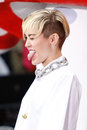 Miley cyrus new york oct recording artist performs on nbc s today show at rockefeller plaza on october in new york city Royalty Free Stock Photos