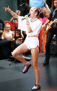 Miley cyrus new york oct recording artist performs on nbc s today show at rockefeller plaza on october in new york city Royalty Free Stock Images