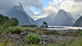Milford Sound (Fjordland, New Zealand) Royalty Free Stock Photo
