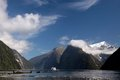 Milford Sound landscape Royalty Free Stock Image