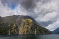 Milford Sound Landscape, South Island, New Zealand Royalty Free Stock Photo