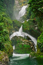 Milford Track Mackay Waterfall, New Zealand Stock Photos