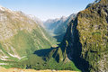 Milford track valley, New Zealand Stock Photo