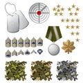 Militaire pictogrammen Royalty-vrije Stock Afbeelding