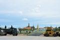 Militar renovate The royal field (Sanam Luang) Stock Photography