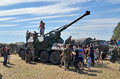 Militaria funs at the international gathering of military vehicles in borne sulinowo poland event is held every year area west Stock Photos
