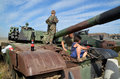 Militaria funs at the international gathering of military vehicles in borne sulinowo poland event is held every year area west Stock Photography