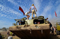 Militaria funs at the international gathering of military vehicles in borne sulinowo poland event is held every year area west Royalty Free Stock Photos