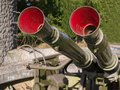 Military anti aircraft gun Royalty Free Stock Photo
