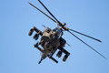 Military attack helicopter Royalty Free Stock Photo