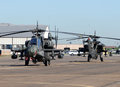 Military attack helicopters Royalty Free Stock Photo