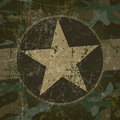 Military background with copy space and star Royalty Free Stock Image