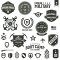 Military badges Stock Photos