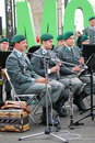Military band tirol austria performs in moscow by the entrance to the gorki recreation park day of the city celebration taken on Stock Images