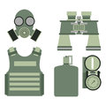 Military body armor symbols armor set forces design and american fighter ammunition navy camouflage sign vector
