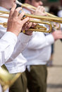 Military brass band Royalty Free Stock Photo