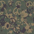 Military Camouflage Love and Peace sign Royalty Free Stock Photo