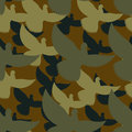 Military camouflage pigeons birds protective seamless pattern army soldier texture for clothes ornament for hunter dove khaki Royalty Free Stock Image
