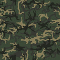 Military camouflage, texture repeats seamless. Green brown black olive colors forest texture. Vector illustration.