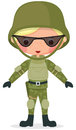 Military cartoon boy Royalty Free Stock Photography
