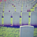 Military cemetery british in bavaria instagram effect Royalty Free Stock Image