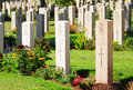 Military cemetery british for the soldiers killed in palestine jerusalem israel Stock Images